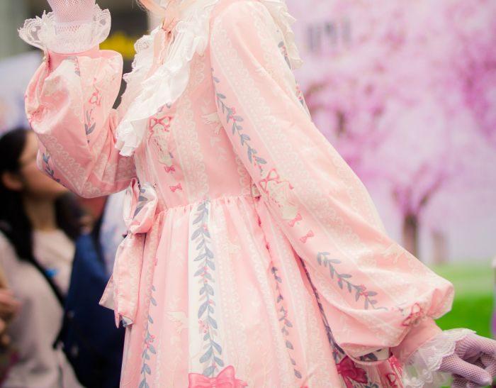 rochie roz pastel