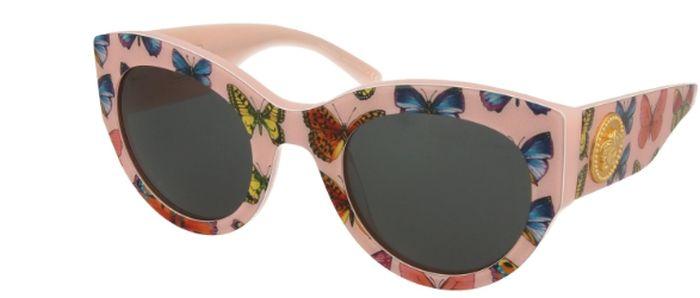 Ochelari de soare Versace cu rama cu imprimeu